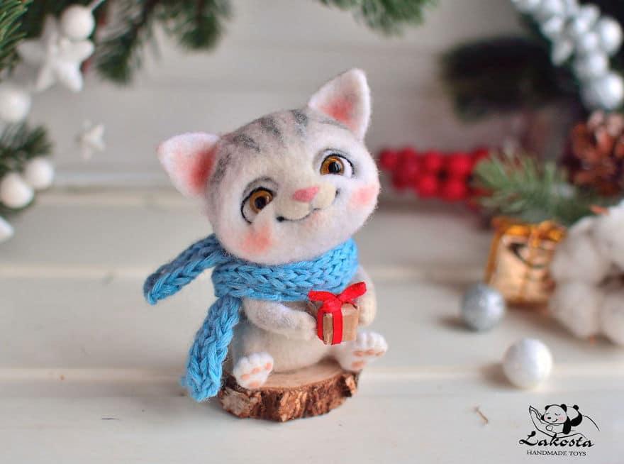 20-Cutest-Felted-Toys-Ever-By-LaKosta-59b2b3bc57d00__880 Cute Banget, Kamu Pasti Gak Nyangka Kalau 18 Miniatur Hewan Ini Dibuat dari Kain Wol