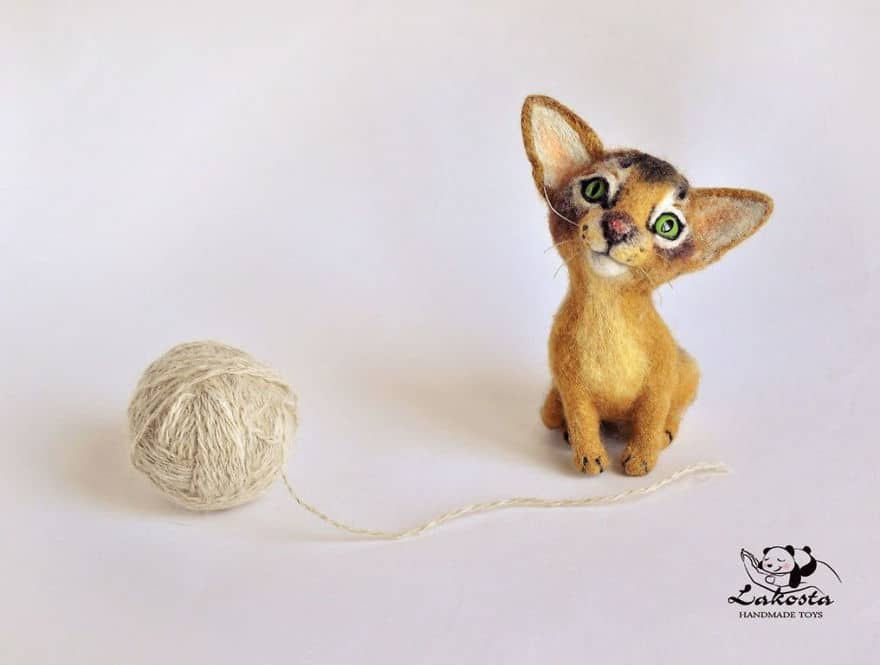 20-Cutest-Felted-Toys-Ever-By-LaKosta-59b2b3c499947__880 Cute Banget, Kamu Pasti Gak Nyangka Kalau 18 Miniatur Hewan Ini Dibuat dari Kain Wol