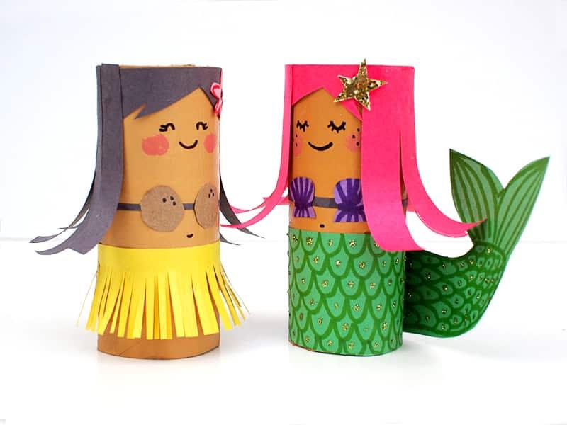 TP-Roll-dolls-craft-kids Ubah Barang Bekas Jadi 4 Kerajinan Unik yang Super Cute Ini